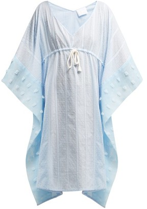 Binetti Love Surfer Girl Cotton Kaftan - Womens - Blue