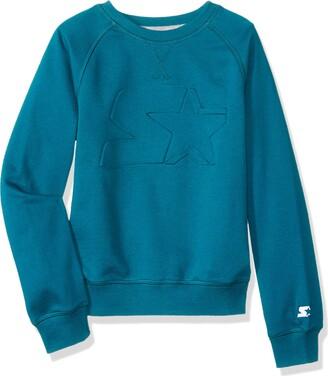 Starter Girls' Lightweight Crewneck Sweatshirt with Embossed Logo Amazon Exclusive