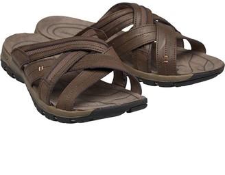 Karrimor Mens Cross Leather Slide Sandals Brown