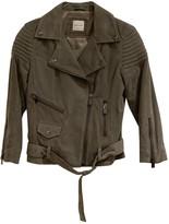 Anine Bing Khaki Suede Leather Jacket for Women