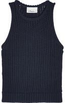 3.1 Phillip Lim Open-Knit Cotton-Blend Top