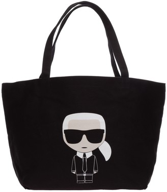Karl Lagerfeld Paris K/Ikonik Logo Tote Bag