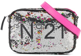 No21 Kids TEEN sequin logo shoulder bag