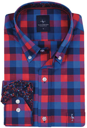 Tailorbyrd Big Boys Blue And Red Check Button-Down Shirt