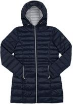 Point Zero Navy Hooded Longline Puffer Jacket