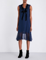 See by Chloe Bow-detail chiffon dress