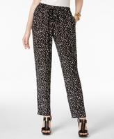 MICHAEL Michael Kors Petite Printed Drawstring Pants