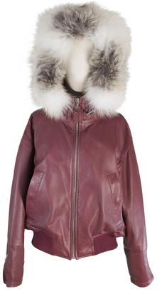 Louis Vuitton Burgundy Leather Jackets