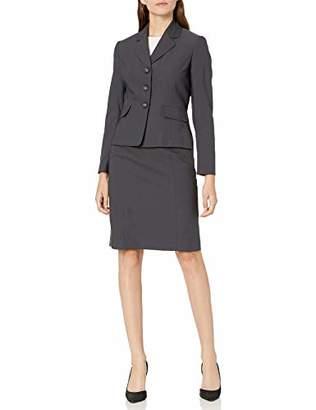 Le Suit Women's 3 Button Notch Collar Novelty Skirt Suit