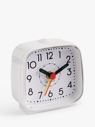 House by John Lewis Analogue Alarm Clock, White