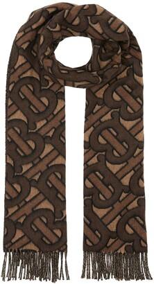 Burberry Monogram Cashmere Jacquard Scarf