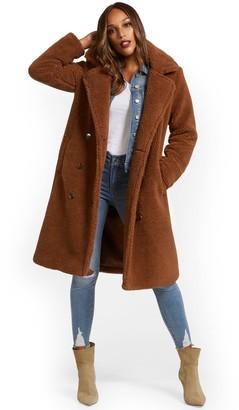 New York & Co. Long Teddy Coat