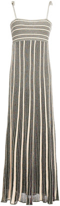 M Missoni Pleated Metallic Stretch-knit Maxi Dress