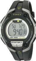 Timex Men's T5K4129J Ironman Traditional 30-Lap Mega Black/Silver-Tone Case Black Resin Strap Watch