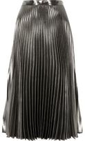 River Island Womens Silver metallic pleated skirt