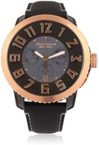 Tendence Chr Steel Black & Rose Gold Watch