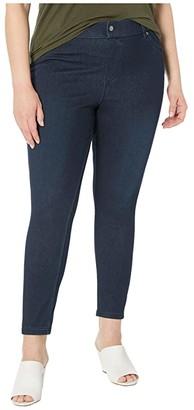Hue Plus Size Ultra Soft Denim High-Waist Skimmer (Black/Indigo) Women's Jeans