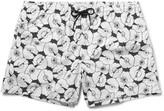 Club Monaco - Arlen Slim-fit Short-length Printed Swim Shorts
