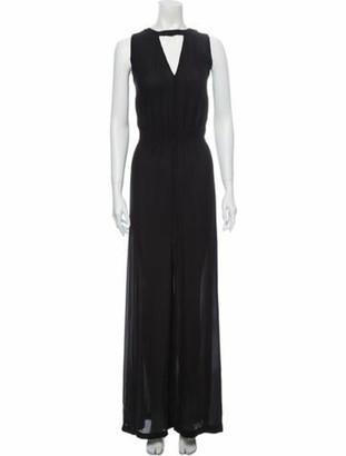 A.L.C. Silk Long Dress w/ Tags Black Silk Long Dress w/ Tags