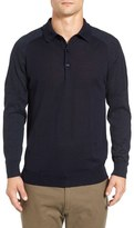 Gant Trim Fit Merino Wool Polo Sweater