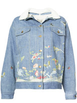 Sea embroidered denim jacket