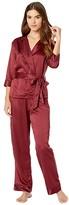 Bluebella BLUEBELLA Wren Kimono and Trousers Set (Cordovan/ Black) Women's Pajama Sets