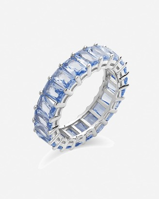 Express Sterling Forever Cubic Zirconia Baguette Ring