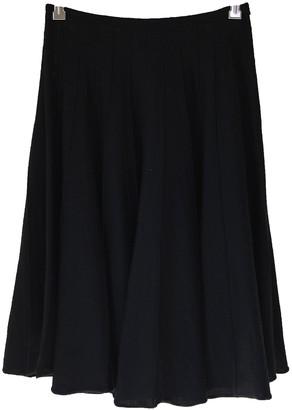 Jean Paul Gaultier Black Wool Skirt for Women