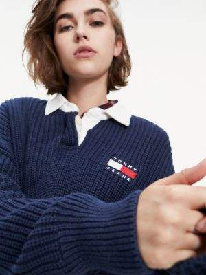 Tommy Hilfiger Chunky Knit Polo Collar Jumper