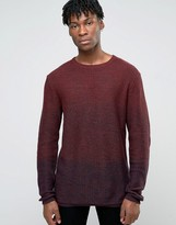 Jack and Jones Crew Neck Knitted Sweater in Yarn Dye