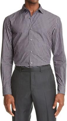 Ermenegildo Zegna Gingham Check Button-Up Cotton Shirt