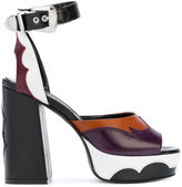 McQ by Alexander McQueen chunky platform sandals - women - Calf Leather/Leather - 36