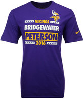 Nike Men's Bridgewater/Peterson 2016 Minnesota Vikings Election T-Shirt