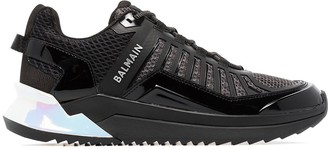 Balmain Trail patent-leather sneakers