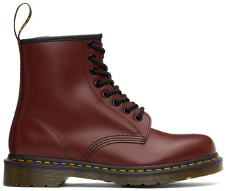 Dr. Martens Red 1460 Smooth Lace-Up Boots
