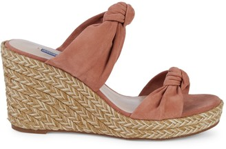 Stuart Weitzman Sarina Suede Espadrille Wedge Sandals