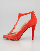 Jimmy Choo Time Suede & Wire T-Strap Sandal