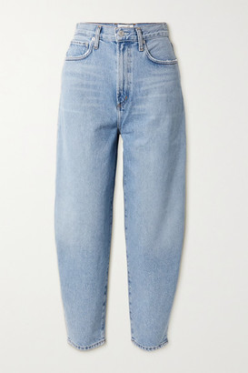 AGOLDE Balloon High-rise Tapered Jeans - Light denim