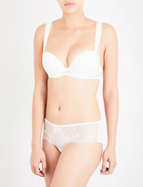 Simone Perele Boheme crepe and stretch-lace push-up bra