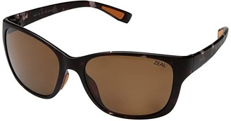 Zeal Optics Magnolia (Matte Tortoise w/ Polarized Copper Lens) Athletic Performance Sport Sunglasses