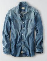 American Eagle AEO Flex Denim Workwear Shirt