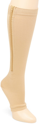 Xtf By Extreme Fit XTF by Extreme Fit Compression Socks Nude - Nude Open Toe Zipper 15-20 mmHg Moderate Compression Socks