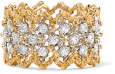 Buccellati Rombi 18-karat Yellow And White Gold Diamond Ring - 54
