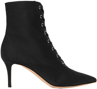 Gianvito Rossi Lace-up Grosgrain Ankle Boots