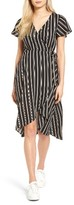 Socialite Women's Stripe Midi Wrap Dress