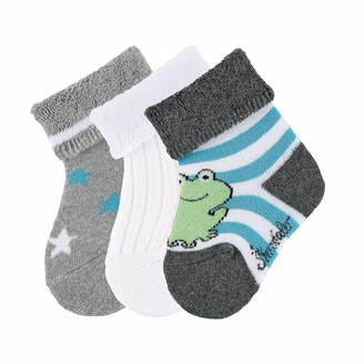 Sterntaler Baby Boys sockchen 3er-Pack Frosch Calf Socks