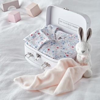 The White Company Heart & Star Print Baby Gift Set , White, 0-3mths