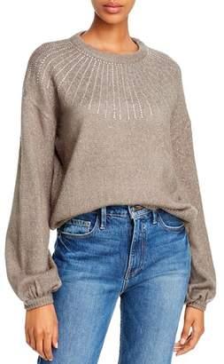 Aqua Embellished Balloon-Sleeve Sweater - 100% Exclusive