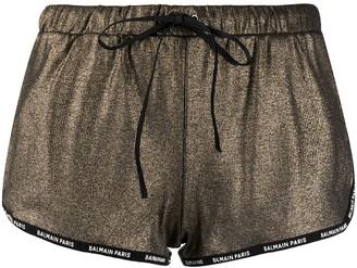 Balmain Logo-Trim Shorts