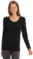 S.O.H.O New York Wool & Bamboo Thermal Long-Sleeve Top in Black